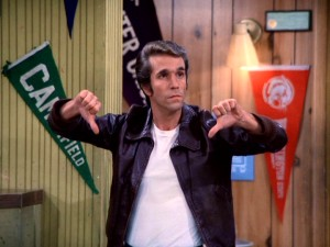Fonzie Thumbs down - Surviving Grady