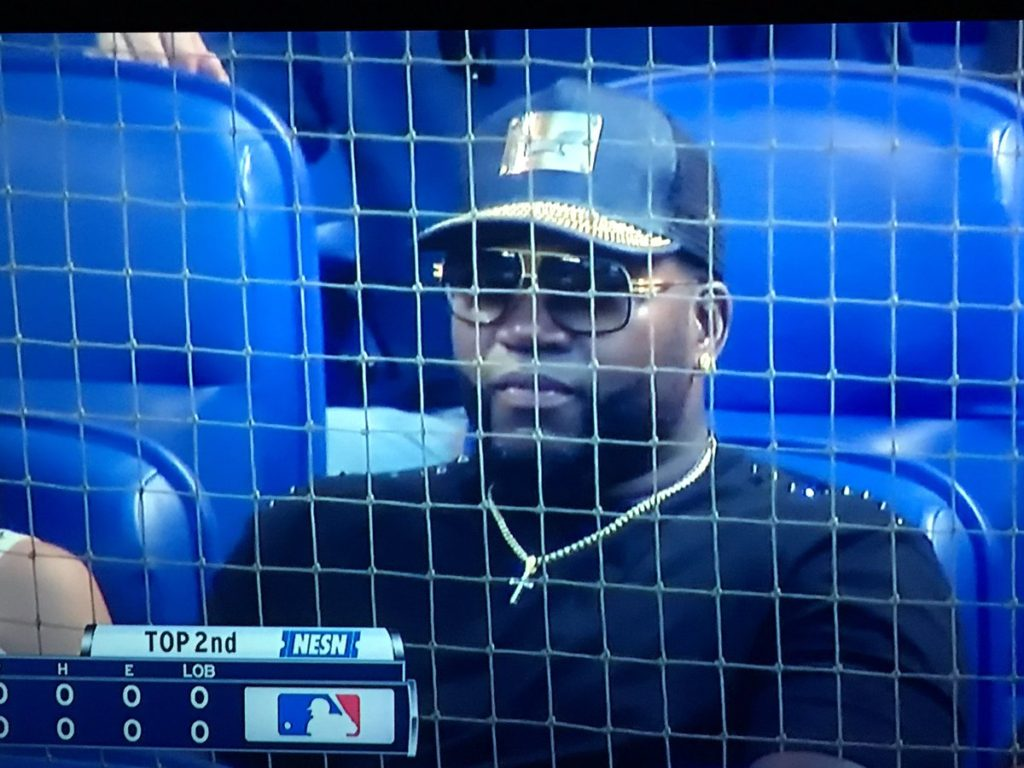 david ortiz in the stands